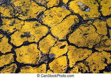 Yellow Asphalt Background