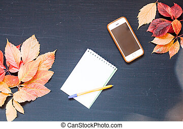 yellow autumn leaves cell phone notebook zx x