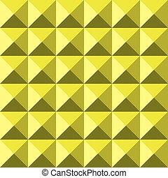 Yellow background abstract pyramidas texture seamless pattern
