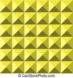 Yellow background abstract pyramidas texture seamless pattern