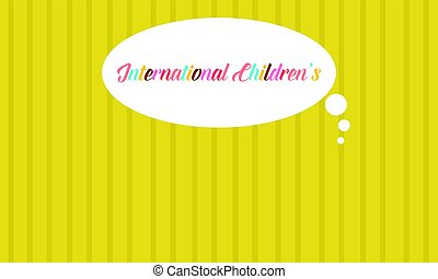 Yellow background card childrens day