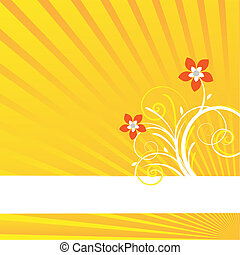 yellow background card - yellow background with rays and...