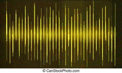 yellow background equalizer, seamless loop, def