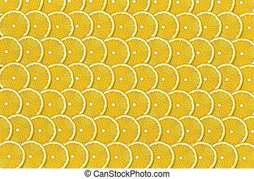 background of sliced lemons