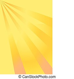 Yellow background with diverging rays of the sun