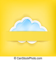 yellow background with cloud