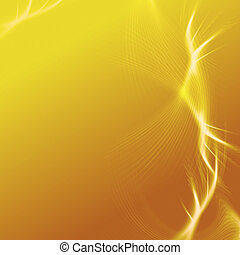 yellow background with abstract white rays lights like stars, lines and net
