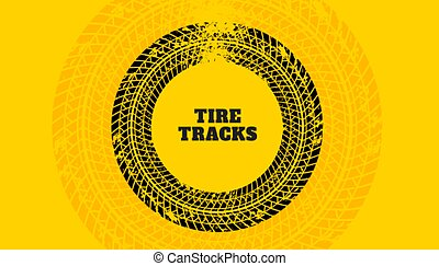 yellow background with tire track print texture