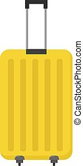 Yellow bag, illustration, vector on white background.