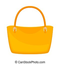 Yellow bag. Vector illustration on a white background.
