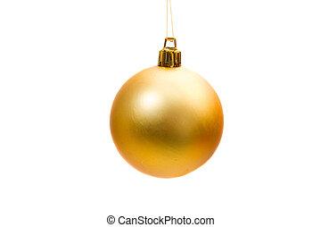 Yellow ball of christmas