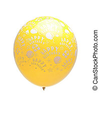 yellow balloon isolated