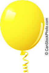 Yellow balloon. This image is a vector illustration and can ...