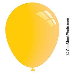 Yellow balloon. Vector