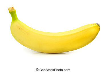 yellow banana fruit isolated food on white