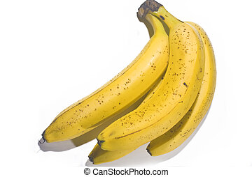 yellow banana on white background