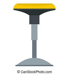 Yellow bar stool icon isolated