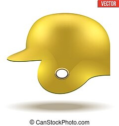 Yellow baseball helmet