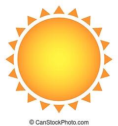 yellow beautiful sun abstract icon