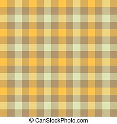 Yellow beige check tablecloth seamless pattern. Vector ...