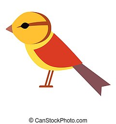 yellow bird flat illustration