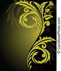 Yellow-black ornament