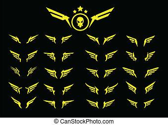 yellow black wings