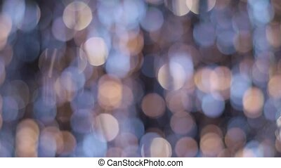 Yellow, blue and white bokeh light as abstract background