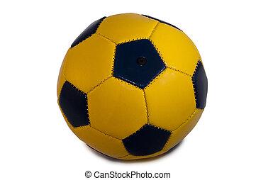 yellow, blue ball