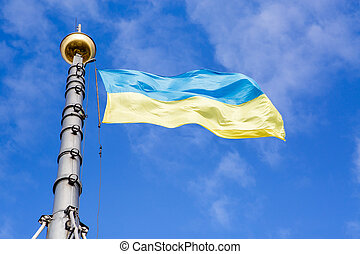 yellow-blue flag of Ukraine