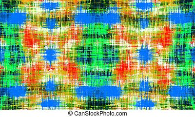 yellow blue green and red plaid pattern texture abstract background
