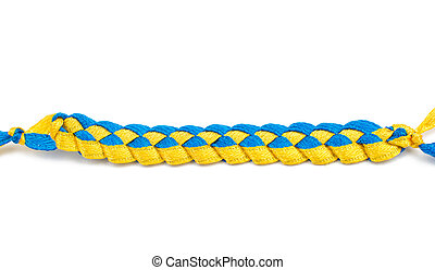 yellow-blue ribbons