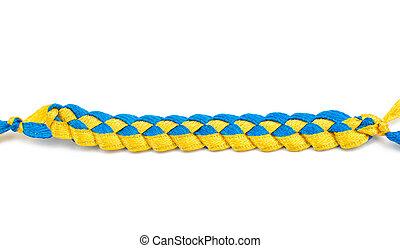 yellow-blue ribbons