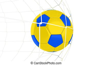 Yellow Blue Soccer Ball
