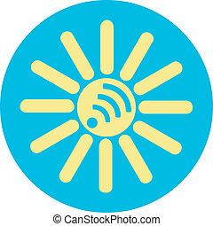yellow-blue sun wi-fi