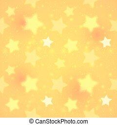Yellow blurred shining stars seamless pattern