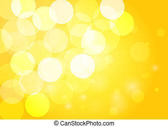 Yellow bokeh background. Vector EPS10.