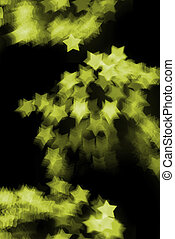 Yellow Bokeh Stars - a pattern of bokeh star shapes created...
