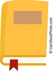 Yellow book, illustration, vector on white background.