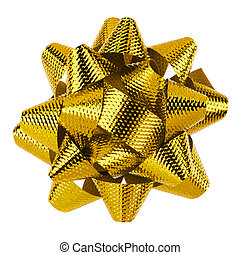 Yellow bow isolated