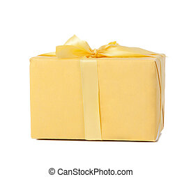 yellow box isolated on white background