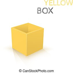 Yellow Box isolated on white
