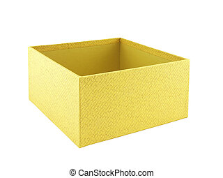 Yellow box on white background