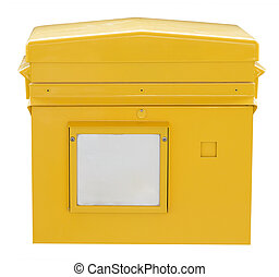 Yellow box on white