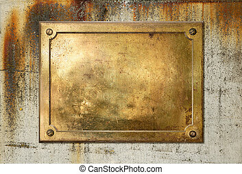 Yellow brass metal plate border - Brass yellow metal plate...
