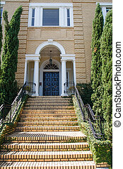 Yellow Brick Steps and House