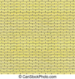 Yellow bricks wall seamless texture 3d illustration
