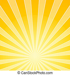 Yellow Bright Light Beams - Abstract Background Illustration...