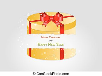 yellow broken present with red ribbon