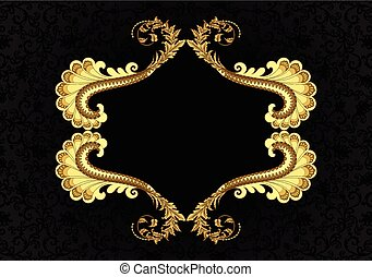 yellow brown frame in vintage style